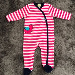 Offspring velour striped one piece